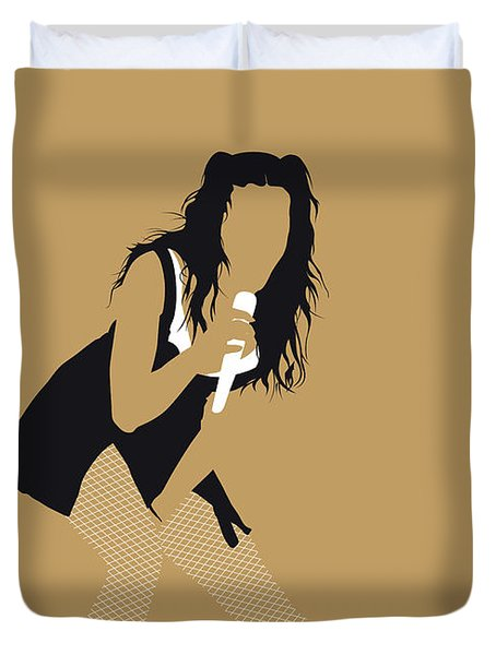 No254 My Katy Perry Minimal Music Poster Duvet Cover