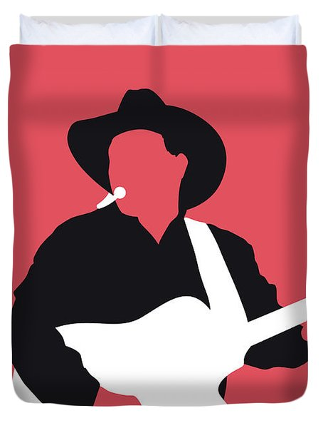 No272 My Garth Brooks Minimal Music Poster Duvet Cover