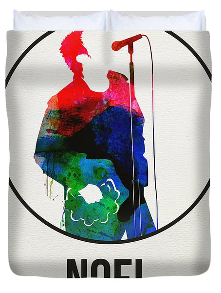 Noel Gallagher Watercolor Duvet Cover