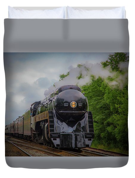 Norfolk And Western 611 Duvet Cover