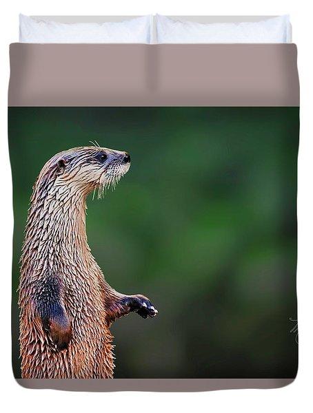 Norman The Otter Duvet Cover