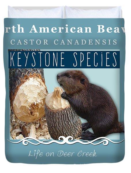 North American Beaver Duvet Cover