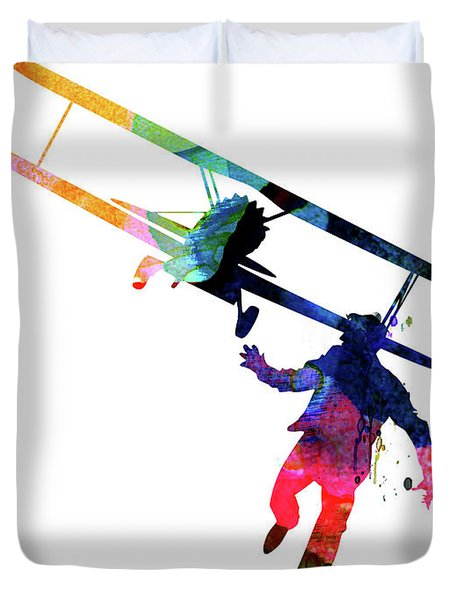 North By Northwest Watercolor Duvet Cover