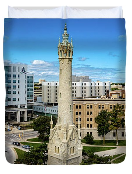 Duvet Cover featuring the photograph North Point Tower by Randy Scherkenbach