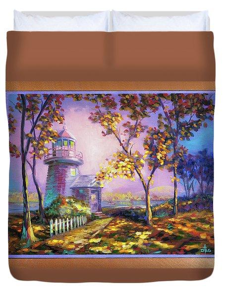 Northeast Autumn Sentinel Duvet Cover