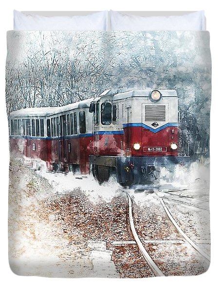Northern European Train Duvet Cover