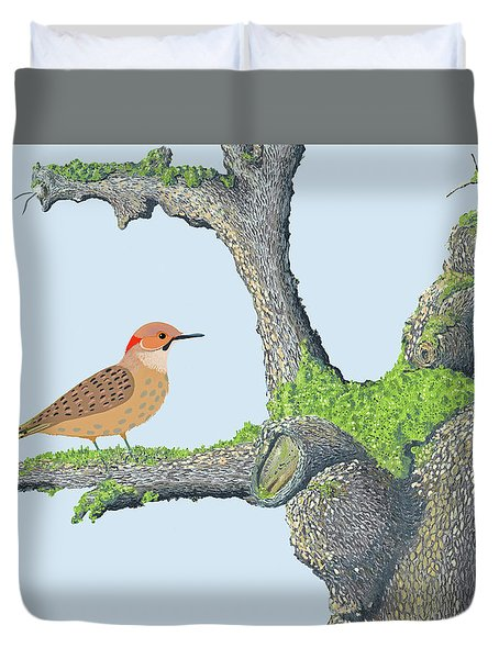 Northern Flicker Duvet Cover