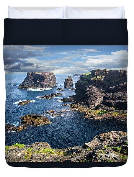 Northmavine Coast, Shetland Isles Duvet Cover