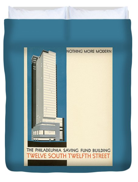 Nothing More Modern The Philadelphia Savings Fund Society Building, 1932 Duvet Cover
