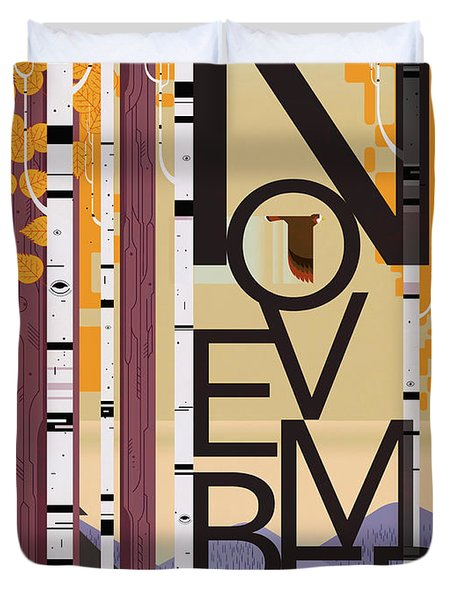 November Michigan Duvet Cover