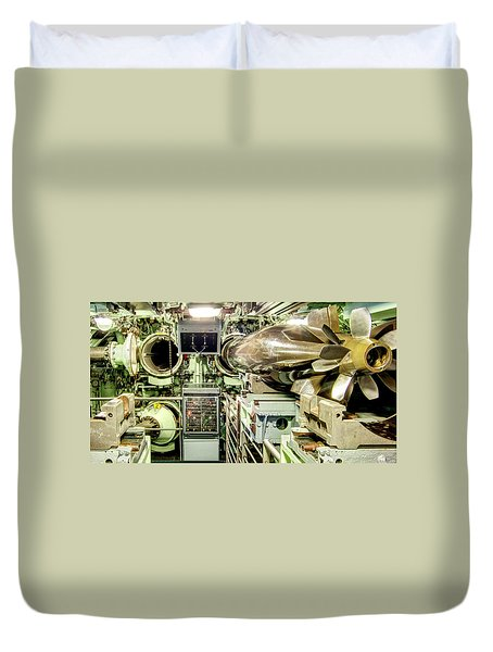 Nuclear Submarine Torpedo Room Duvet Cover