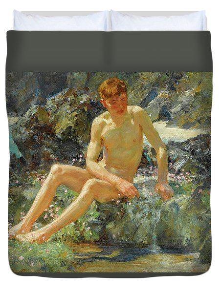 Nude On The Rocks, 1927 Duvet Cover