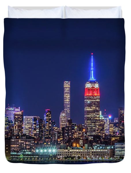 Nyc At The Blue Hour Duvet Cover