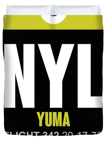 Nyl Yuma Luggage Tag II Duvet Cover