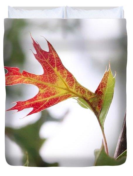 Oak Leaf Turning Duvet Cover