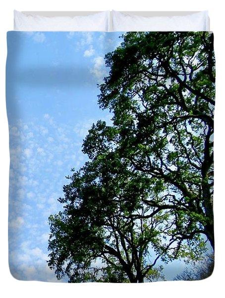 Oaks And Sky Duvet Cover