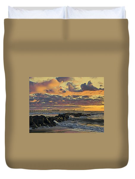 Ob Sunset No. 3 Duvet Cover