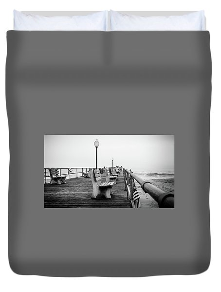 Ocean Grove Pier 2 Duvet Cover