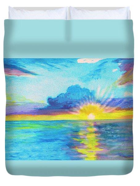 Ocean In The Morning Duvet Cover