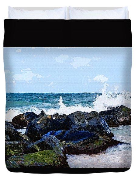 Ocean Meets The Coast Duvet Cover