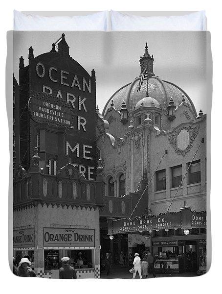 Ocean Park Pier 1920 Duvet Cover