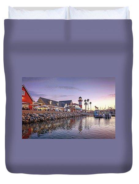Oceanside Harbor Duvet Cover
