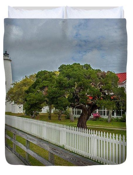 Ocracoke Lighthouse  Duvet Cover
