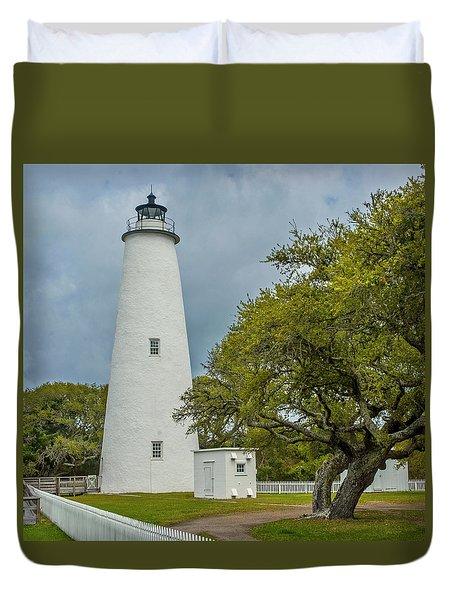 Ocracoke Lighthouse No 2 Duvet Cover