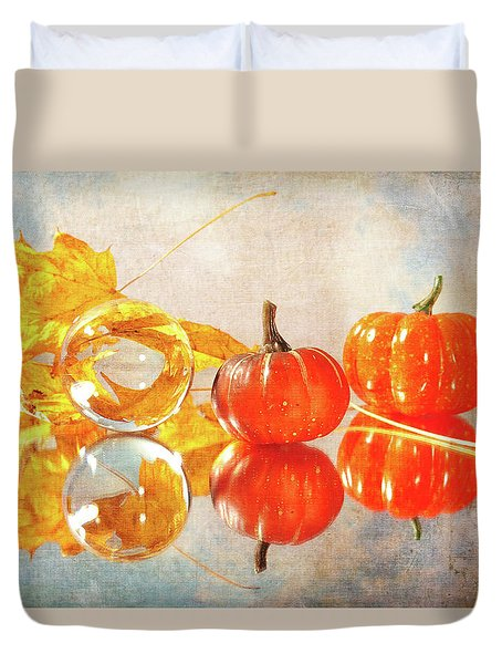 Duvet Cover featuring the photograph October Reflections by Randi Grace Nilsberg