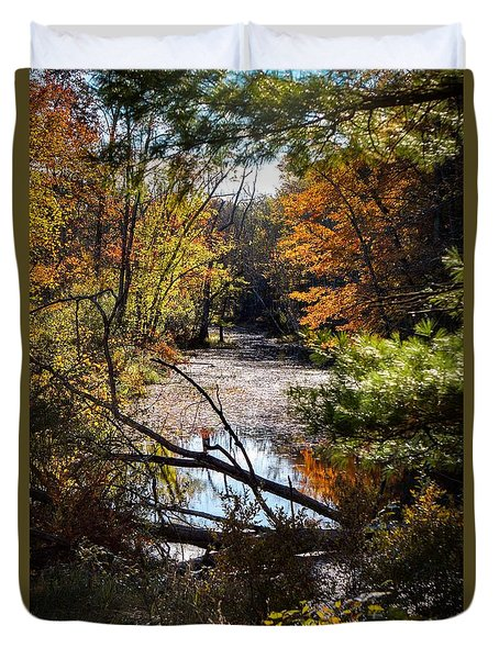 Duvet Cover featuring the photograph October Window by Kendall McKernon