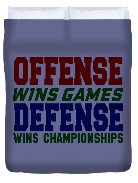 Offence Defense Duvet Cover
