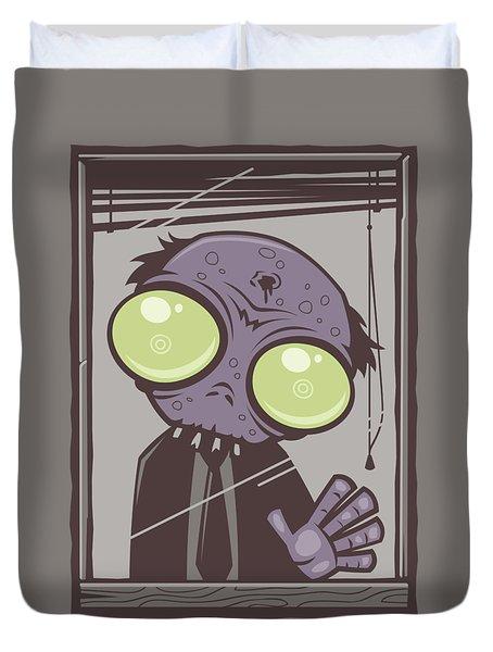 Office Zombie Duvet Cover