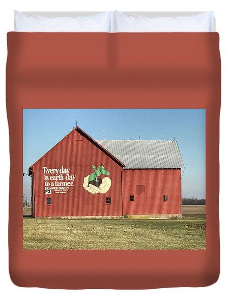 Ohio Barn  Duvet Cover