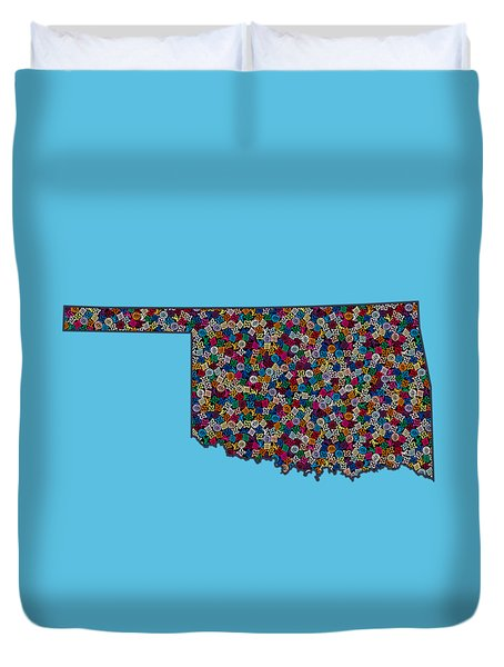 Oklahoma Map - 2 Duvet Cover