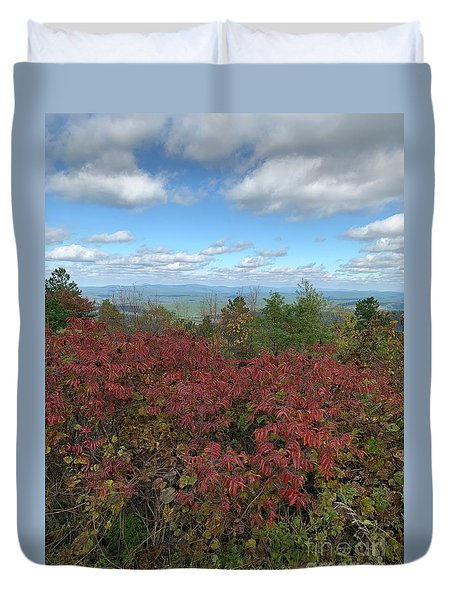 Duvet Cover featuring the photograph Oklahoma Scenic Trail  by Robin Maria Pedrero