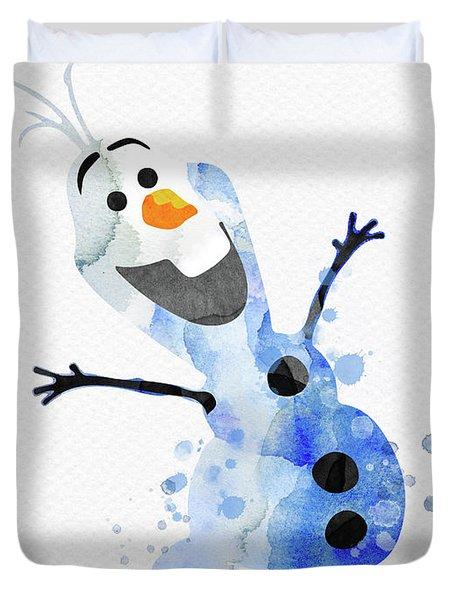 Olaf Watercolor Duvet Cover