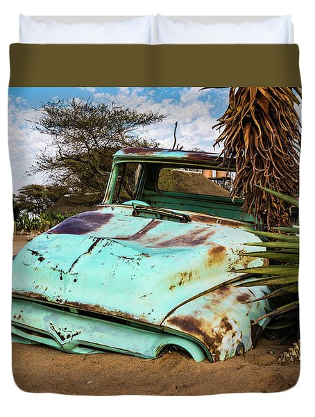 Old And Abandoned Car 2 In Solitaire, Namibia Duvet Cover