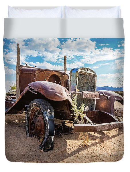 Old And Abandoned Car 3 In Solitaire, Namibia Duvet Cover