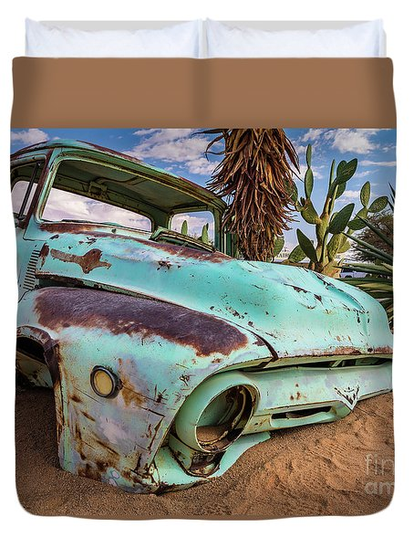 Old And Abandoned Car 7 In Solitaire, Namibia Duvet Cover