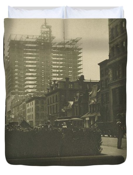 Old And New New York, Alfred Stieglitz, 1910 Duvet Cover