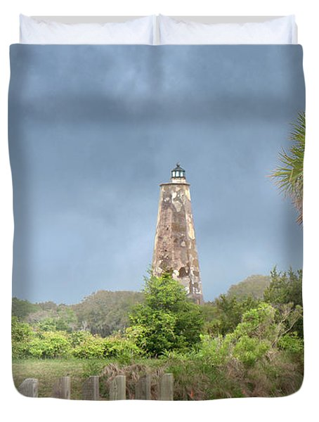 Old Baldy Lighthouse Bald Head Island Duvet Cover