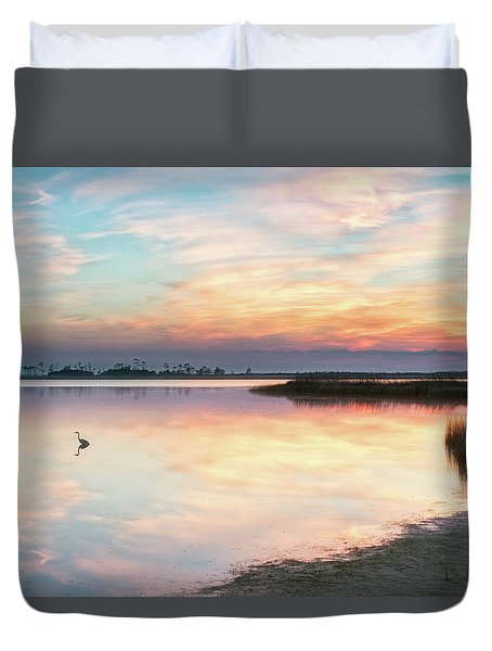 Duvet Cover featuring the photograph Old Blue by Russell Pugh