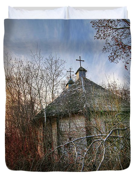 Old Calder Church Duvet Cover