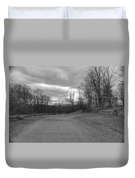 Old Canal Road - Waterloo Village Duvet Cover