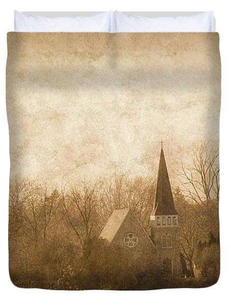 Old Church On A Hill  Duvet Cover