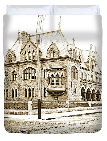 Old Customs House And Post Office, Evansville, Indiana, 1915 Duvet Cover