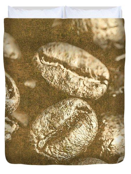 Old Gold Roast Duvet Cover