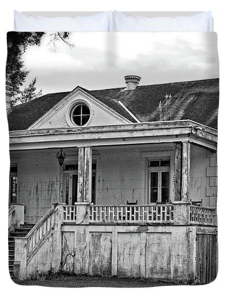 Old House Black And White Duvet Cover