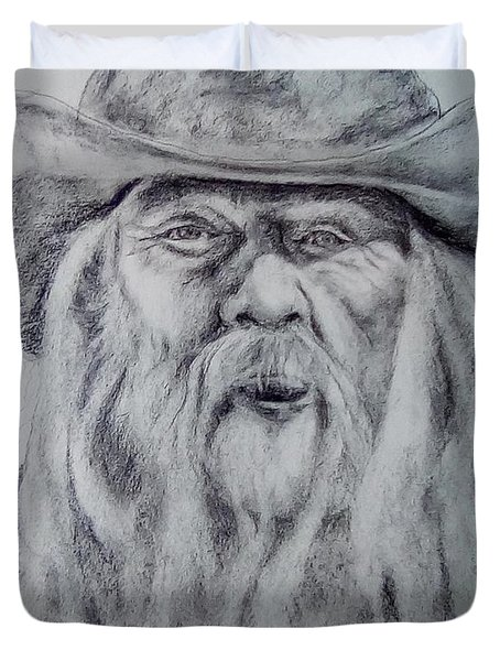 Old Man In A Hat  Duvet Cover