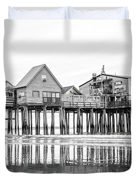 Old Orchard Beach Pier Good Morning Classic Duvet Cover